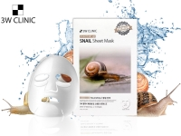 Тканевая маска для лица на основе муцина улитки / 3W Clinic Essential Up Snail Sheet Mask