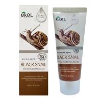 Пилинг-гель с муцином чёрной улитки  100 ml / Ekel Natural Clean Peeling Gel Black Snail 100 ml