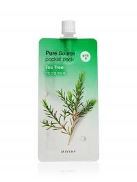 Ночная увлажняющая маска для лица с чайным деревом  / MISSHA Pure Source Pocket Pack Tea Tree