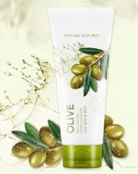 Очищающая пенка для умывания с экстрактом оливы / Real Nature Olive Foam Cleanser
