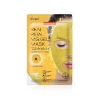 Гидрогелевая маска для лица на основе экстракта календулы / Purederm Real Petal MG:Gel Mask Calendula